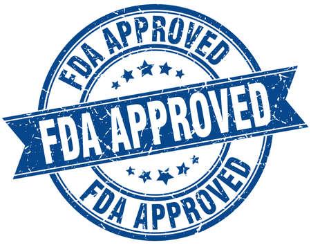 fda 承認されたラウンド グランジ リボン スタンプ