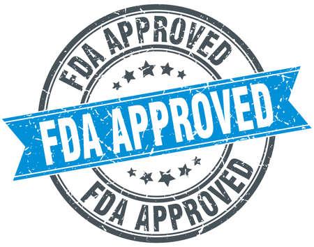 fda approved round grunge ribbon stamp