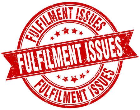 fulfilment: fulfilment issues round grunge ribbon stamp