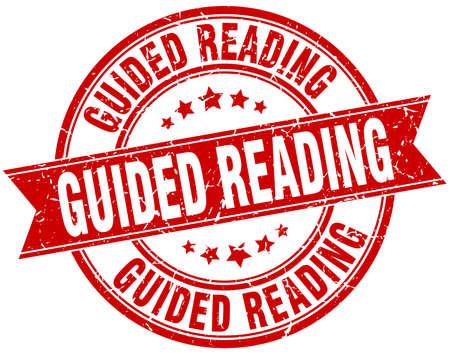 guided reading round grunge ribbon stamp