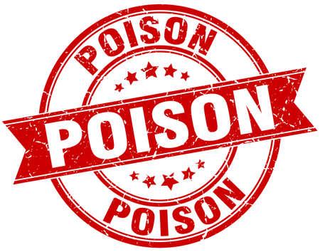 poison: poison round grunge ribbon stamp