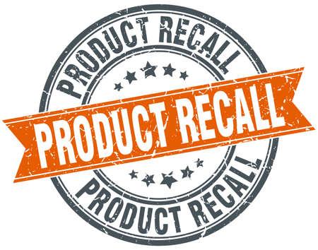 product recall round grunge ribbon stamp
