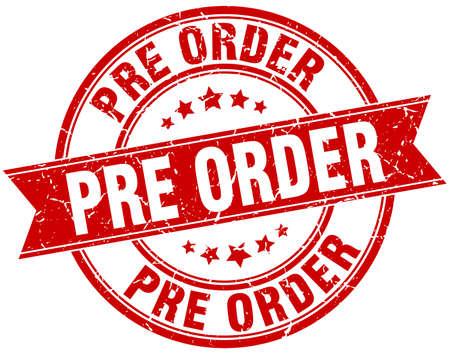 pre order round grunge ribbon stamp