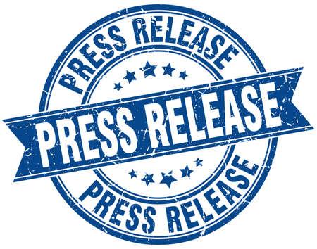 press release round grunge ribbon stamp Illustration
