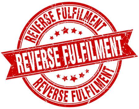 fulfilment: reverse fulfilment round grunge ribbon stamp