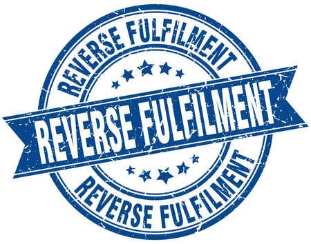reverse: reverse fulfilment round grunge ribbon stamp