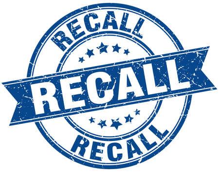 recall round grunge ribbon stamp