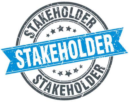 stakeholder: stakeholder round grunge ribbon stamp