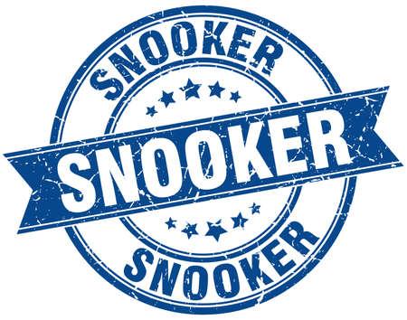 snooker round grunge ribbon stamp