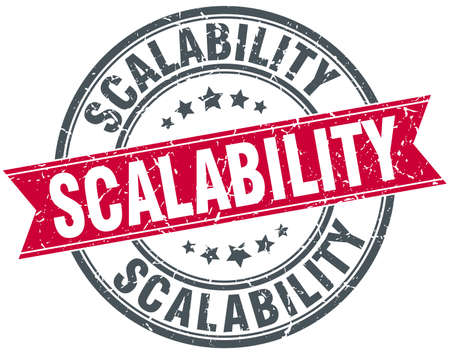 scalability round grunge ribbon stamp