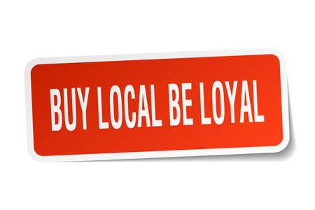 Compre local seja um adesivo leal em branco