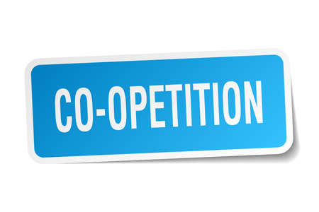 co operation: co-opetition square sticker on white