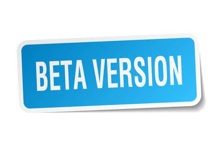 beta version square sticker on white Illustration