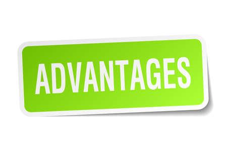 advantages: advantages square sticker on white