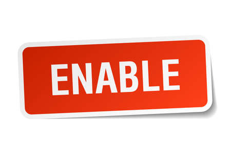 enable: Enable square sticker on white