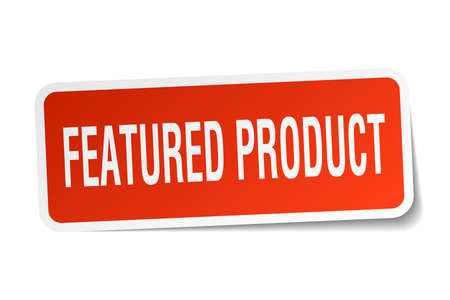 Featured product square sticker on white