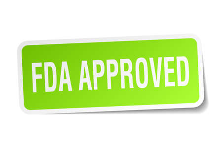 FDA approved square sticker on white Illustration