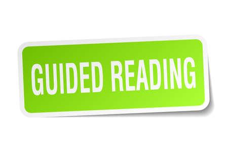 Guided reading square sticker on white Illusztráció