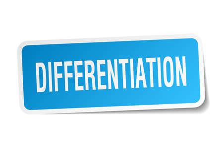 differentiation: Differentiation square sticker on white Illustration