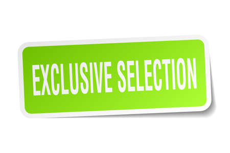 exclusive: Exclusive selection square sticker on white