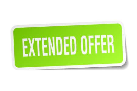 Extended offer square sticker on white Banco de Imagens - 78957865