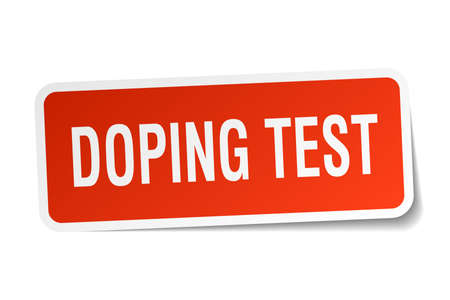 Doping test square sticker on white