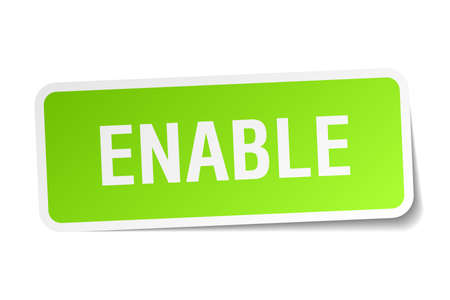 enable: Enable square sticker on white.