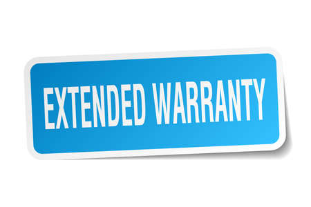 Extended warranty square sticker on white. Banco de Imagens - 78921341
