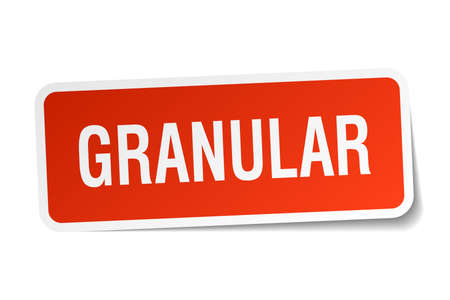Granular square sticker on white. Çizim