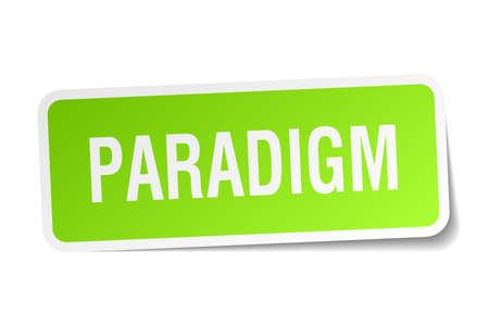 paradigm: paradigm square sticker on white