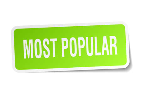 most popular: most popular square sticker on white