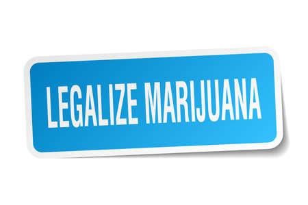legalize: legalize marijuana square sticker on white Illustration