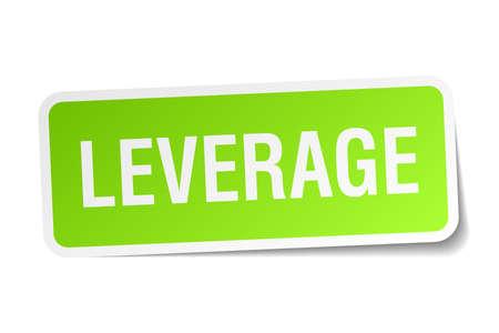 leverage square sticker on white