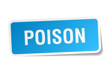 poison: poison square sticker on white