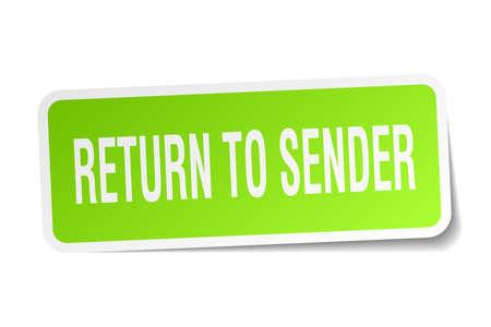 return to sender square sticker on white