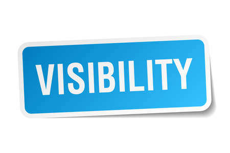 visibility: visibility square sticker on white