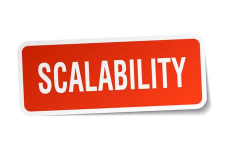 scalability square sticker on white