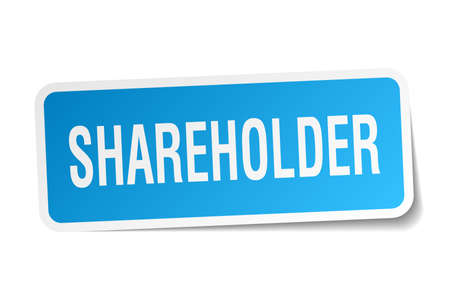 shareholder: shareholder square sticker on white Illustration