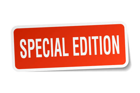 special edition square sticker on white