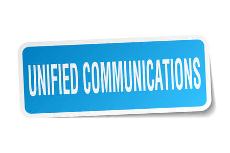 unified communications square sticker on white