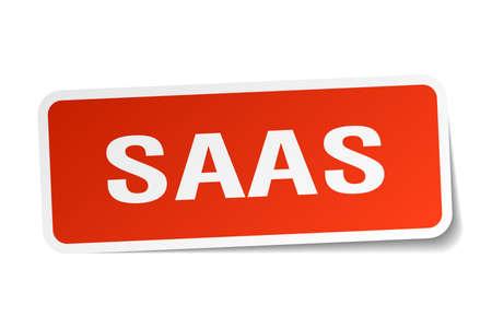 saas: saas square sticker on white