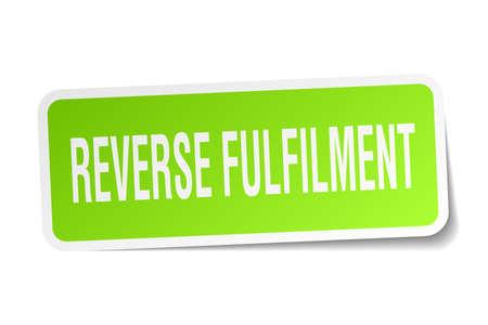 reverse: reverse fulfilment square sticker on white