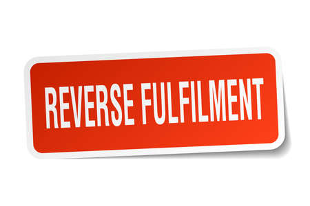 fulfilment: reverse fulfilment square sticker on white