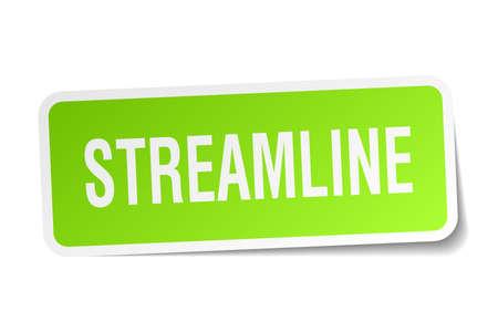 Streamline vierkante sticker op wit