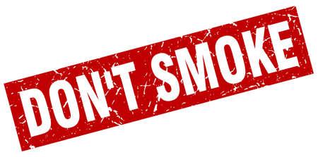 vierkante grunge rood rook geen stempel Stock Illustratie