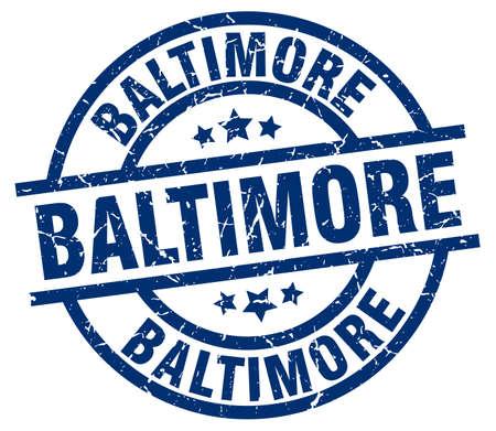 Baltimore blue round grunge stamp
