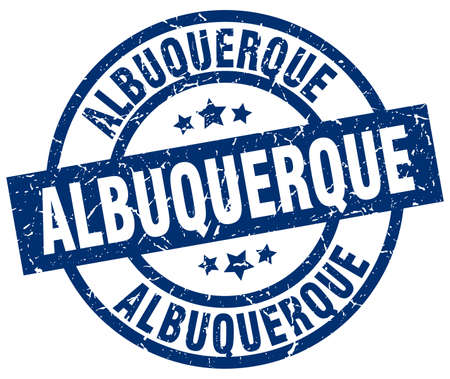albuquerque: Albuquerque blue round grunge stamp