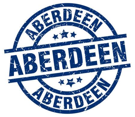 Aberdeen blue round grunge stamp Illustration