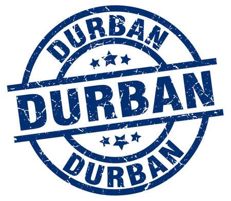 Durban blue round grunge stamp