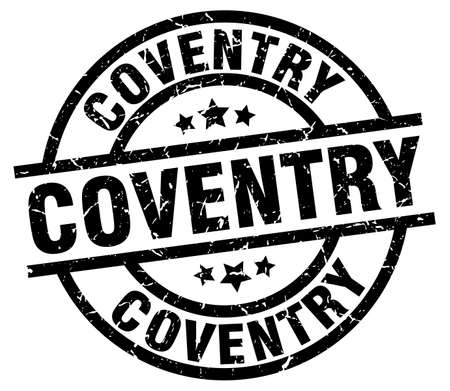 Coventry black round grunge stamp